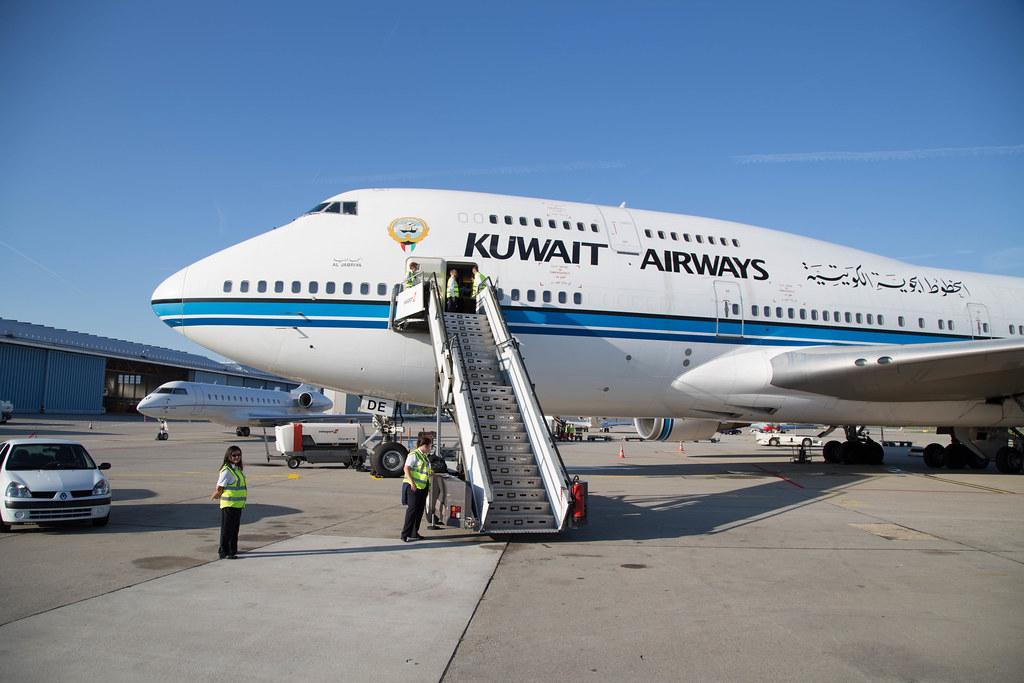 Kuwait Airways Boeing 747-400 in Geneva