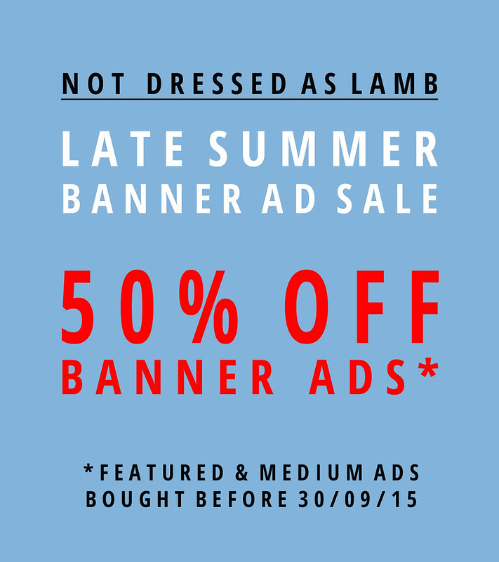 Not Dressed As Lamb Banner Ad Sale