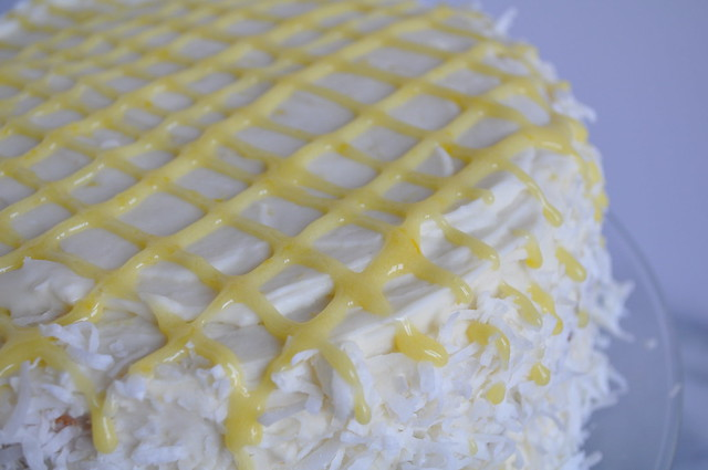 Coconut Cake with Lemon Cream Cheese Frosting