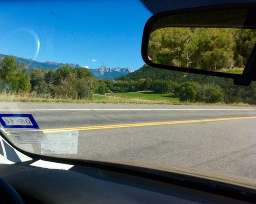 mountain colorado driving view