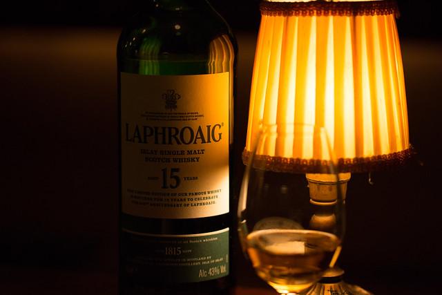 LAPHROAIG 15y at ハングオーバー