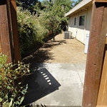 Concrete Trash Can Pad And Decomposed Granite Side Yard In Davis