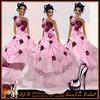 ALB MIRANDA gown - flexis - jewels - heels to slink & TMP