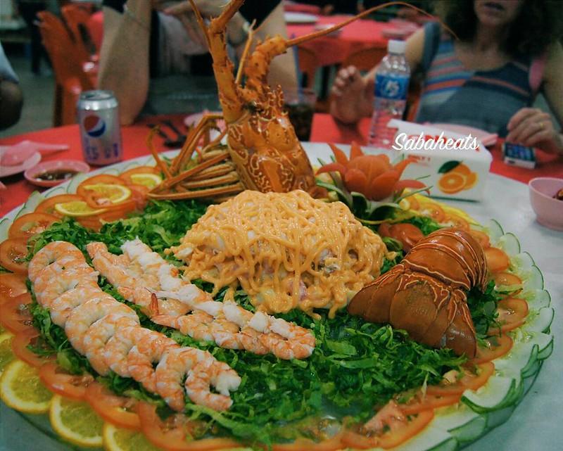 Lobster salad for starter at Pasir Putih Seafood, Sandakan. Super delicious😁😃