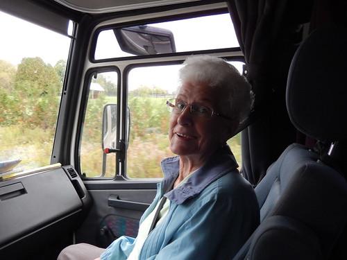 Mount Albert - tante Teresa in de bus