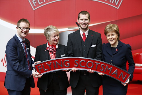 First Minister launches new Virgin Flying Scotsman train