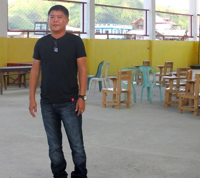 Talalora Mayor Leonilo T. Costelo in the newly-rehabilitated Talalora Civic Center