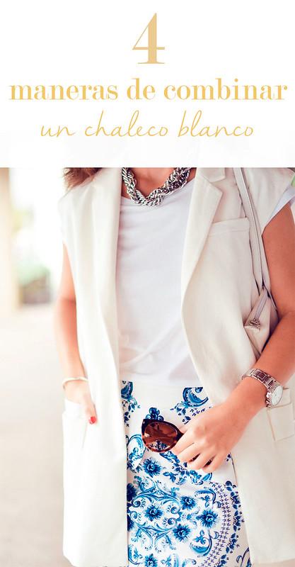 4 maneras de combinar un chaleco blanco