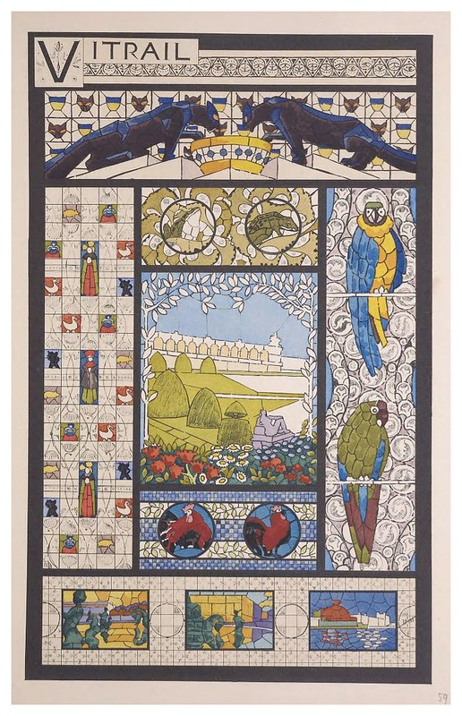 014-Vitrales-Esquisses Décoratives- 1905- Rene Binet