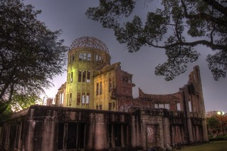 A-Bomb Dome at Hiroshima in early morning on OCT 28, 2015 (5)