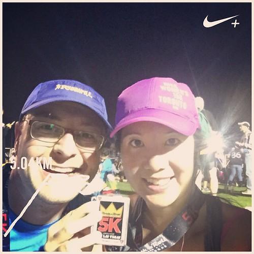 Mei and Dan selfie after the race.