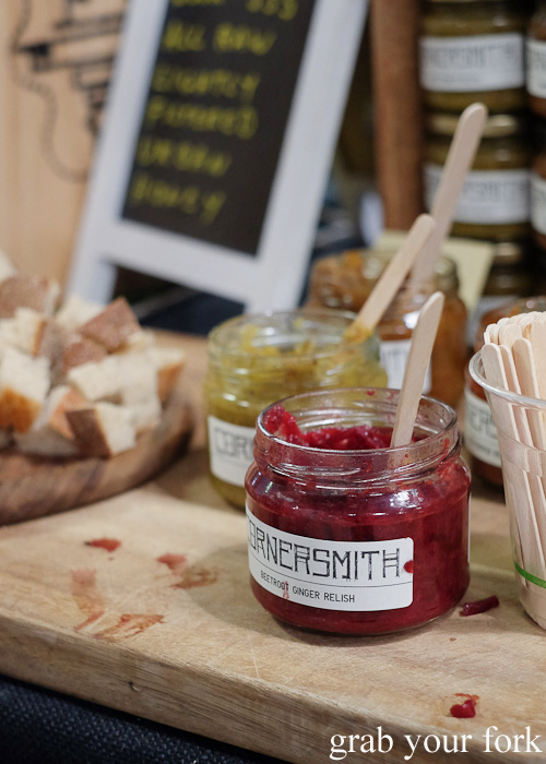 Cornersmith Picklery beetroot and ginger relish at Rootstock Sydney 2015