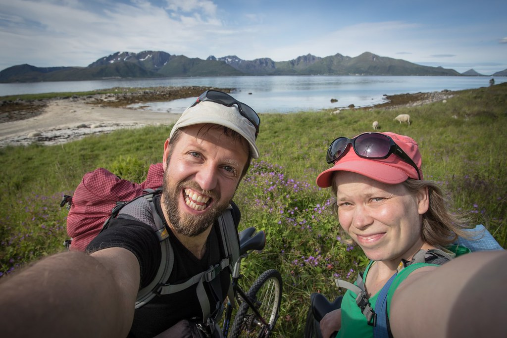 Mountain biking on Andøya. Vesterålen. Norway. #6monthspregnantinpicture