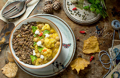 curry and lentils