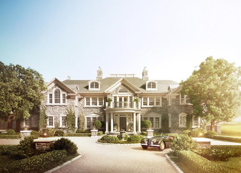 Замковый стиль загородного дома