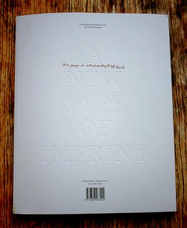 A New Type of Imprint no. 4 cover