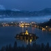 Bled, magic of the night by Dejan Hudoletnjak