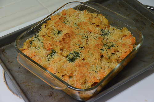 Creamy Sweet Potato & Kale Casserole with Spiced Coconut Béchamel & Ginger