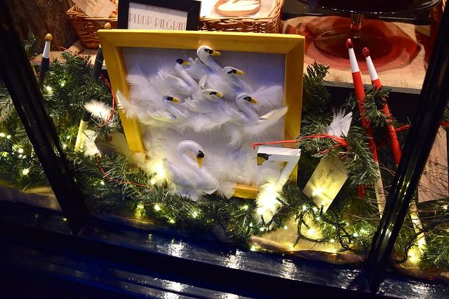 Tiny Tim's 7 Days Of Christmas Christmas Window, Canterbury   www.rachelphipps.com @rachelphipps