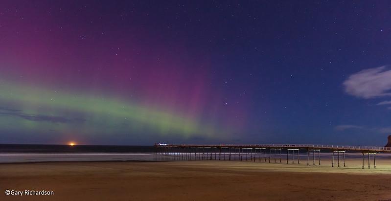 Aurora viewed from Saltburn Beach