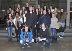 Schülerinnen und Schüler des St. Anna Gymnasiums in der Wuppertaler Nordstadt zu Besuch