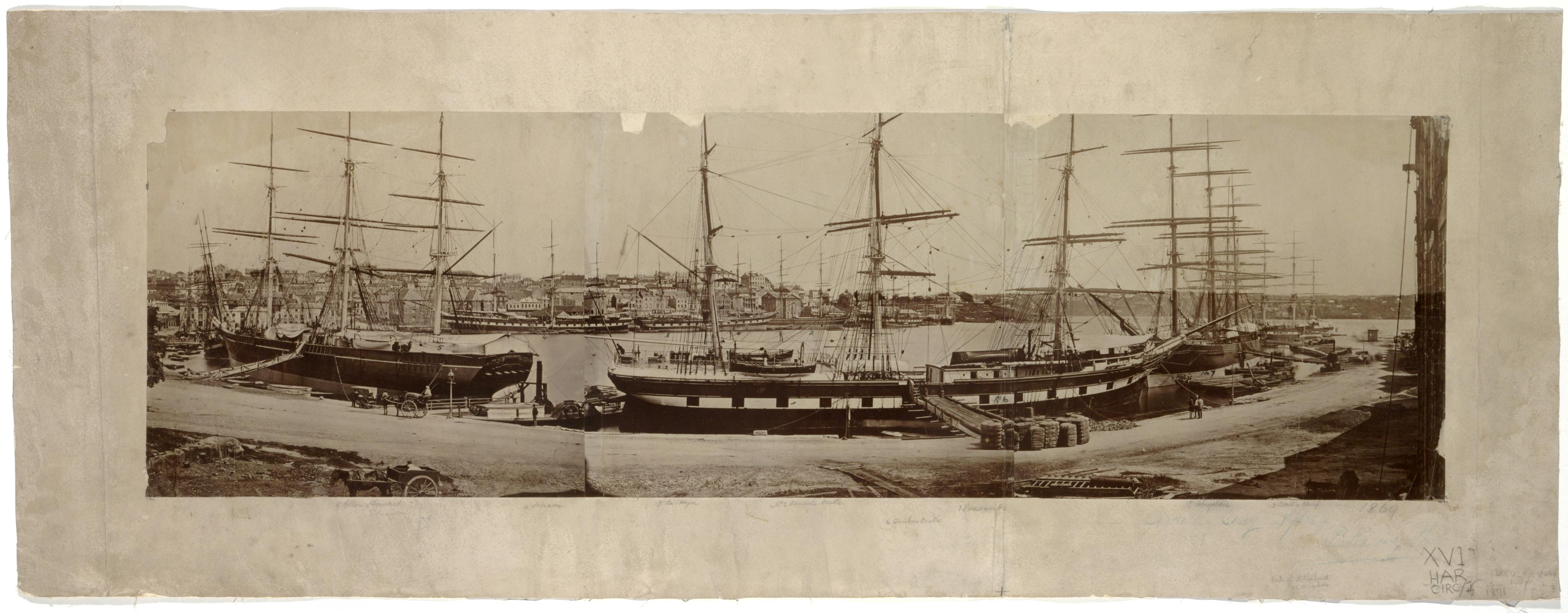 Circular Quay, 1871 / photographed by Charles Percy Pickering