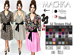 ~ϻ:Lauren Blouse Skirt Dress 32 Colors Hud and Heels