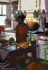 afrocentric-divination: brenna-ivy: It is done! The Modern Male Witch: Kitchen is here! :D He is a bit messy, but he can always find what he's looking for, even when some things in his kitchen get a mind of their own. There's a different fragrance in the