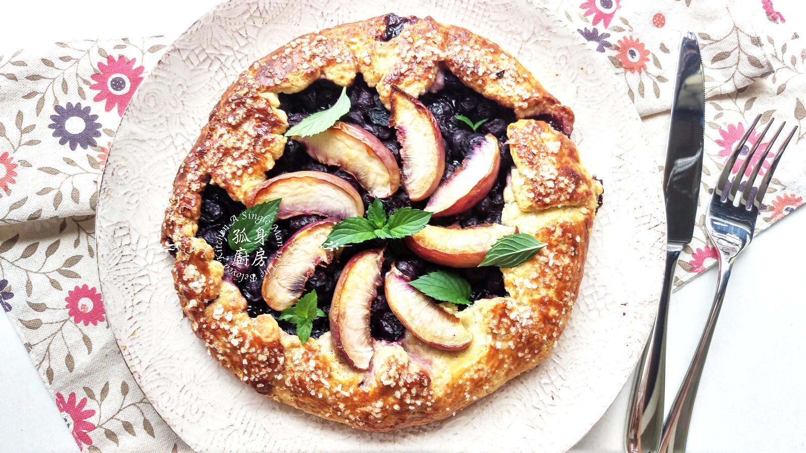 孤身廚房-藍莓甜桃法式烘餅Blueberry-Nectarin Galette29