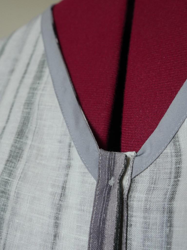 Linen Aster - Neckline Binding