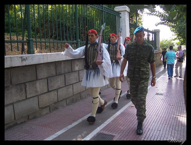 Grecia visita Atenas - Evzones