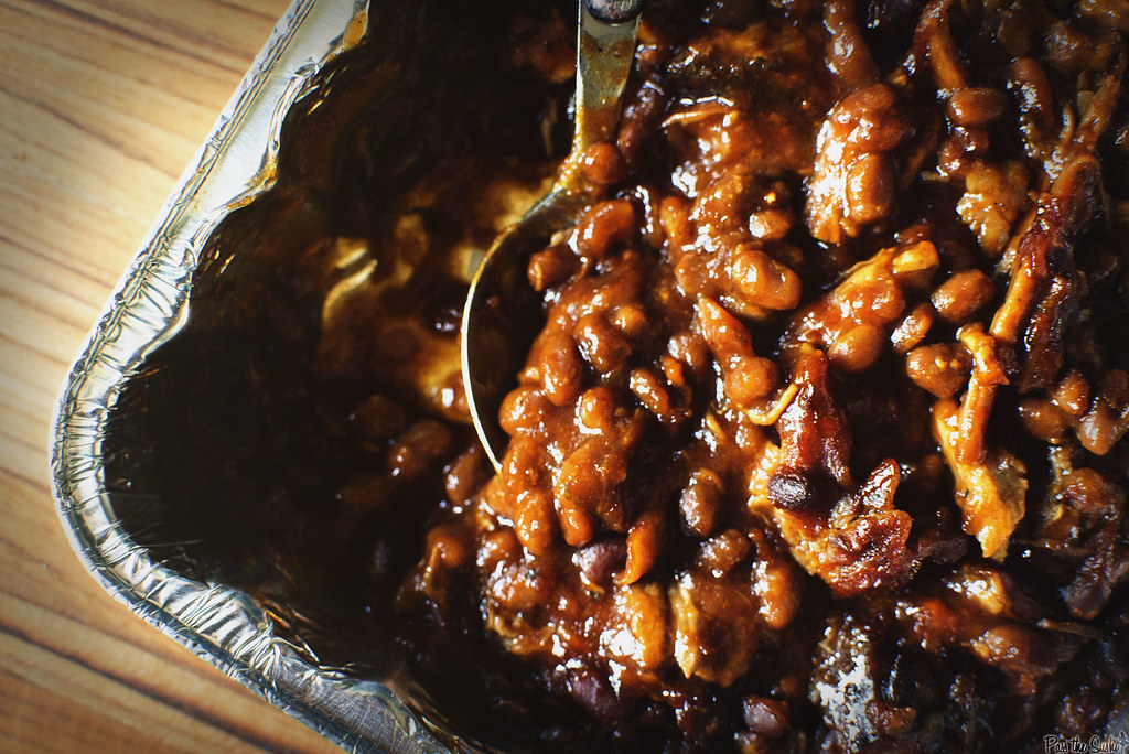 Slow Smoked Pork and Beans \\ GirlCarnivore.com