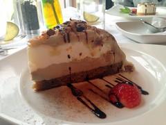 chocolate cake(0.0), produce(0.0), torte(0.0), semifreddo(1.0), bavarian cream(1.0), baked goods(1.0), food(1.0), dish(1.0), cheesecake(1.0), dessert(1.0), cuisine(1.0),