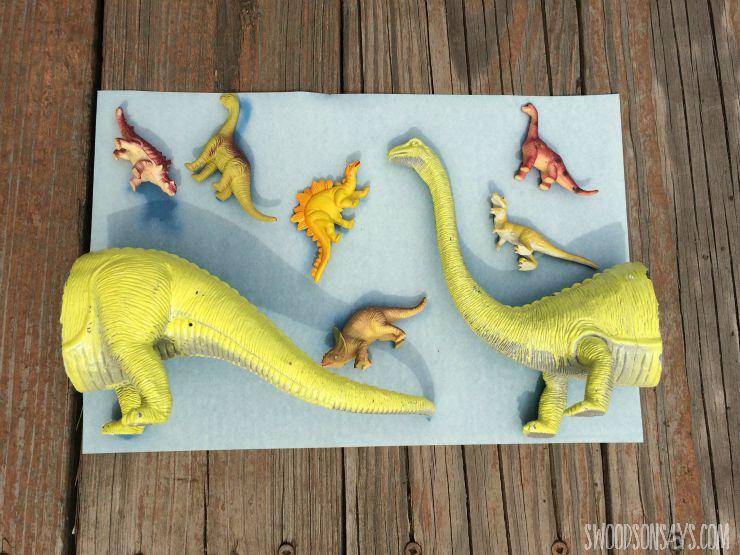 dinosaur sunprint after