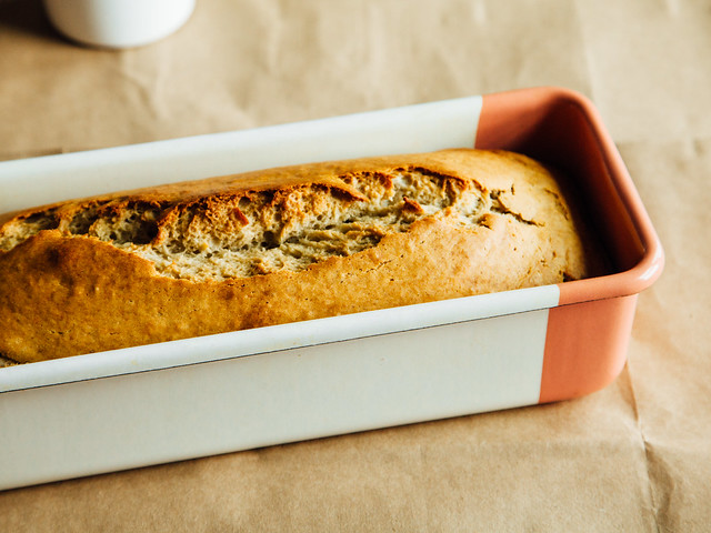 One-bowl banana nut bread