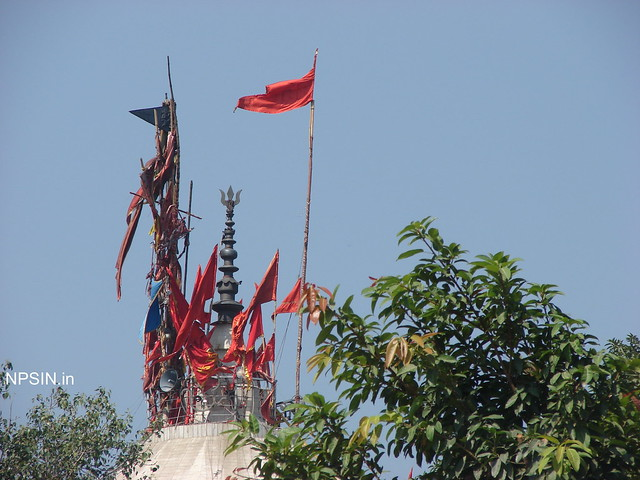 Flag showing the faith community on Maa Kali