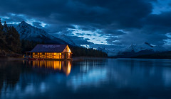 Blue Hour On Lake Maligne