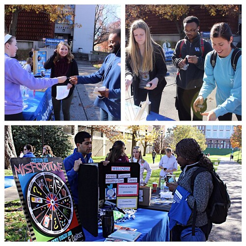 Great American Smokeout celebrates 6 years on campus today with games, giveaways, a breath of fresh air & s'more.  #seeblue #seeclear