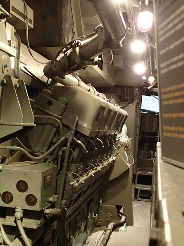 Inside a deisel locomotive