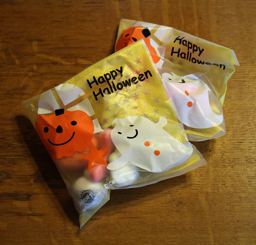 Treat bags from Agnes and Jannes' Halloween party