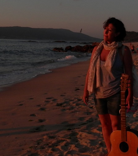 Bea in the red sunset 2