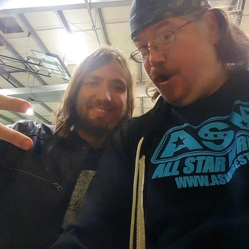 #wrestling #friends #fun Austin & I. Great evening!