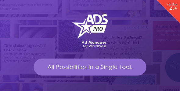 Codecanyon ADS PRO v2.9.0 - Multi-Purpose WordPress Ad Manager