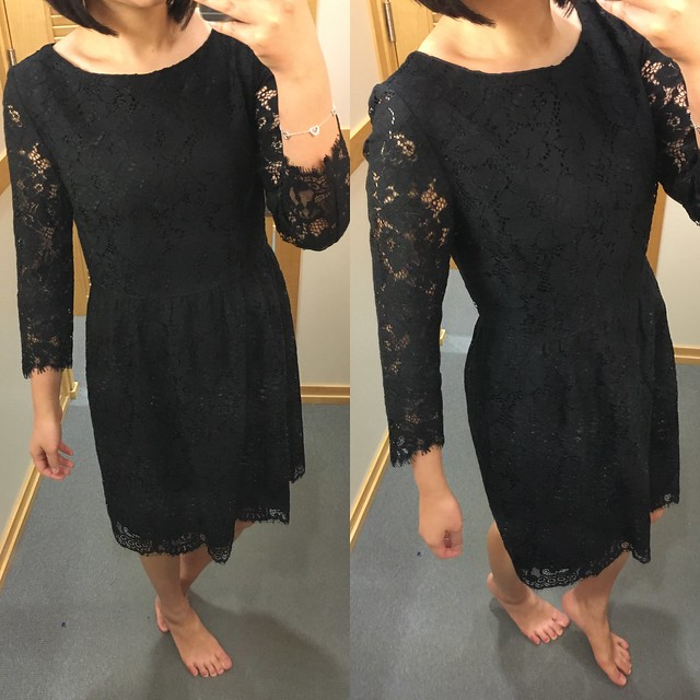 LOFT Scallop Lace Dress, size 2 regular