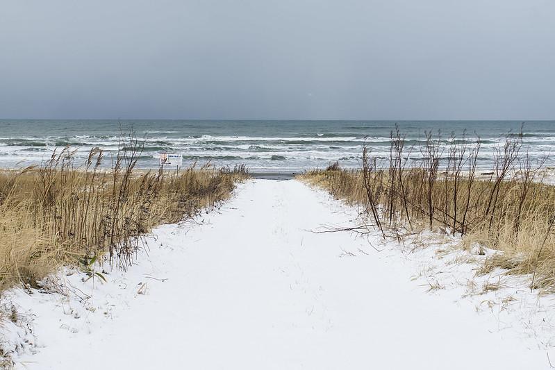 Wakkanai Snowy Beach