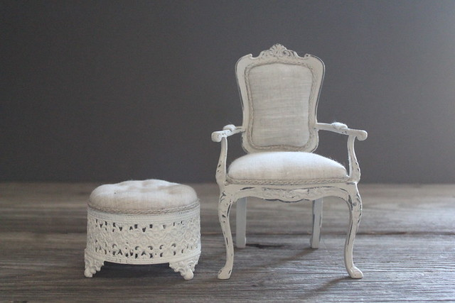 Foot Stool and Chair