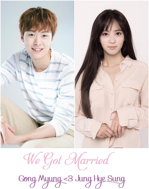 We Got Married - 5urprise Gong Myung & Jung Hye Sung