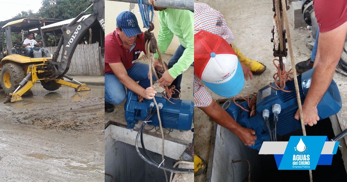 Aguas del Chuno atendió a Puerto Arturo