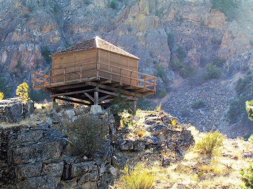 Fire lookout on display
