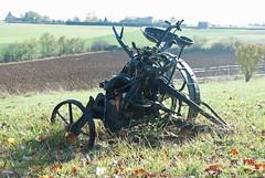 Ancient farm machinery, Domain La Poujade - Photo of Vailhourles